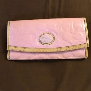 Pink Patent Leather Coach Wallet - Gently Used